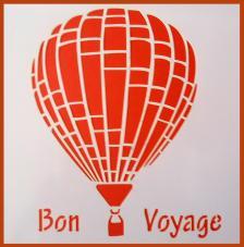 Stencil Von Voyage 20x20 cm