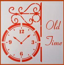 Stencil Reloj Pared 20x20 cm
