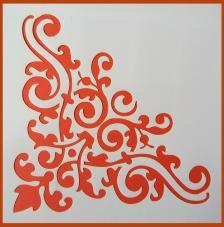 Stencil Esquina 11 20x20 cm