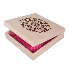 Caja madera 18,5x18,5x5 cm