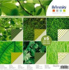 Bloc 6 hojas 30,5x30,5 cm. Verdes
