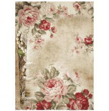 Papel Arroz Pergamino con Rosas 30x41 cm
