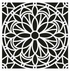 Stencil 30x30 cm Mosaico 4