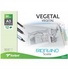 Sobre 12 hojas papel vegetal 90 gr/m2. A3