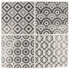 Pegatina Mosaico 26,5x31 cm. Tonos Gris B