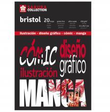 Bloc Bristol para Comic y Manga. Sakura 20 hojas 250 g/m2. A4