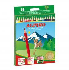 Estuche 18 lápices de colores Alpino