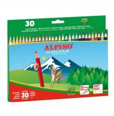 Estuche 30 lápices de colores Alpino