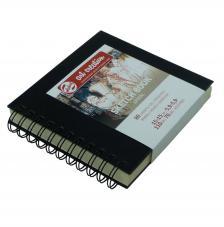 Cuaderno boceto tapa dura espiral Art Creation 80 hojas 110 g/m2. 15x15 cm
