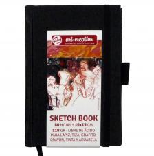 Cuaderno boceto tapa dura Art Creation 80 hojas 110 g/m2. 10x15 cm