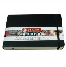 Cuaderno boceto tapa dura cosida Negro Art Creation 80 hojas 160 g/m2. 21x13 cm