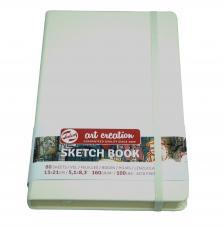 Cuaderno boceto tapa dura cosida Blanco Art Creation 80 hojas 160 g/m2. 13X21 cm