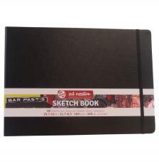 Cuaderno boceto tapa dura cosida Negro Art Creation 80 hojas 160 g/m2. 29,7x21 cm