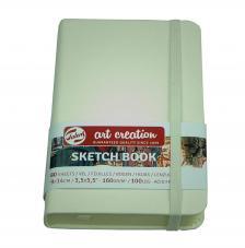 Cuaderno boceto tapa dura cosida Blanco Art Creation 80 hojas 160 g/m2. 9X14 cm