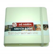 Cuaderno boceto tapa dura cosida Blanco Art Creation 80 hojas 160 g/m2. 12X12 cm