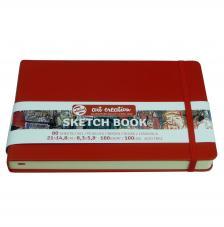 Cuaderno boceto tapa dura cosida Rojo Art Creation 80 hojas 160 g/m2. 21X13 cm