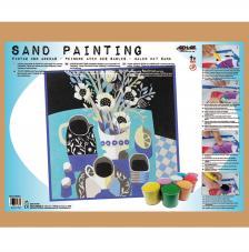 Sand Painting Bodegón Naif Azul