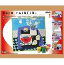Sand Painting Bodegón Naif Sandia