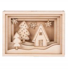Marco madera 3D Mini 11,5x8,5x3,2cm