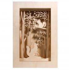 Marco madera 3D Bosque 20x30x6,6cm