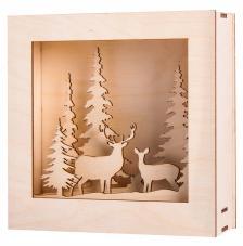 Marco madera 3D Invierno 20x20x6,6cm