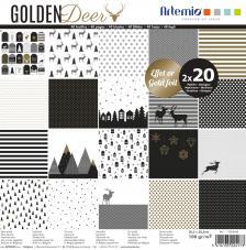 Bloc papel 40 hojas 30,5x30,5 cm. Golden Deer