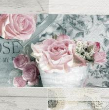20 servilletas. Rosas vintage Paris fondo beige