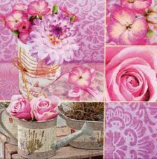 20 servilletas. Rosa Floral