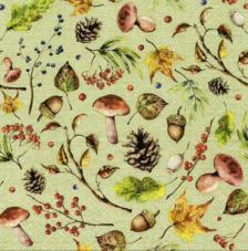 20 servilletas. Bosque otoño verde