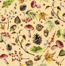 20 servilletas. Bosque otoño rojo