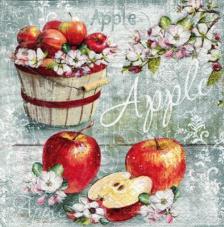 20 servilletas. Cesta de Manzanas