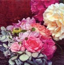 Servilleta 20. Hortensia de otoño