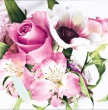 20 Servilletas. Flores delicadas