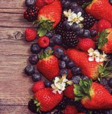 20 Servilletas. Frutas del bosque