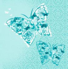 20 Servilletas. Mariposas en azul
