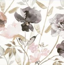 20 servilletas. Flores moradas vintage