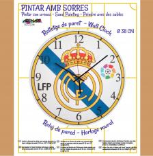 Set Pinta Reloj Pared con arenas. Real Madrid