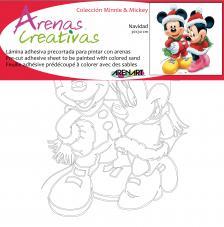 Minnie y Mickey Navidad 30X30  cm