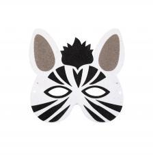Máscara Carnaval Zebra 19x19 cm
