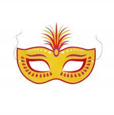 Máscara Carnaval Fantasy Plumas