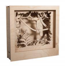 Cuadro 3D Tucan madera 4x24x6,5cm