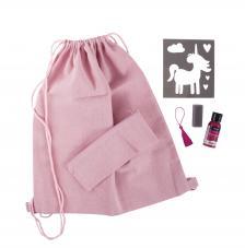 Kit bolsa y estuche rosa unicornio