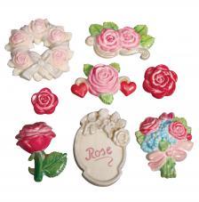 Molde fundicion rosas jardin
