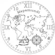 RELOJ Mapamundi. 2 medidas disponibles Ø 38 y Ø 70 cm