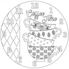 RELOJ Coffe Time. 2 medidas disponibles Ø 38 y Ø 70 cm