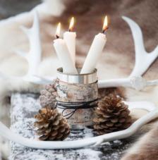 20 servilletas. Piñas y velas