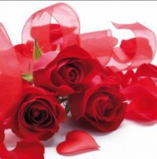 Servilleta rosas textiles