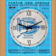 Set Pinta Reloj Pared con arenas. Alavés