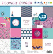 Bloc 40 papeles Flower Power Artemio