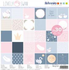 Bloc 60 papeles Lovely Swan